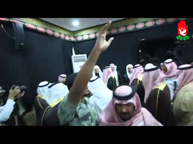زيارة الأمير سعود بن نايف لعزاء أهل الدالوة
