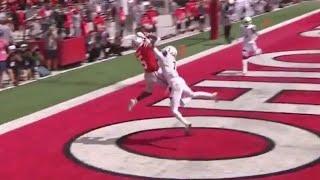 Garrett Wilson first career TD catch from Justin Fields // Ohio State vs. Cincinnati touchdown
