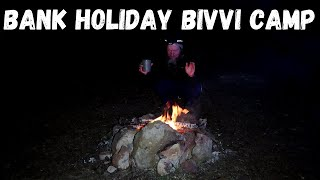 Bank Holiday Weekend OEX PRO Bivvy Campfire Cooking with camping stove Chilling and Music Trail Camp