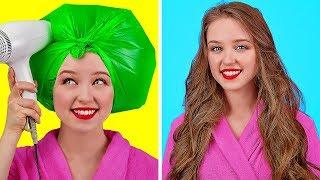 TRUCOS FÁCILES PARA CHICAS || Ideas geniales para cabello y maquillaje por 123 GO! Spanish