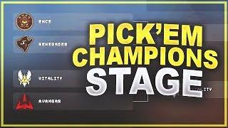 CS:GO - My Pick'Em Predictions (Champions Stage)