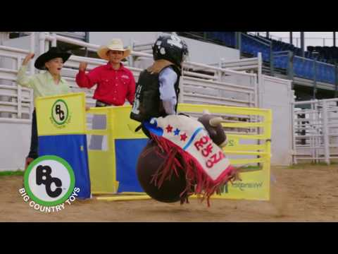 Rodeo Toys - Big Country Bouncy Bull & NFR Bucking Chute: NFR Commercial