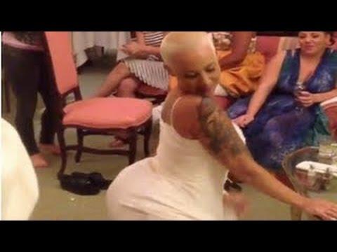 Amber Rose Twerking In Her Wedding Dress!