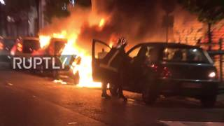 France: Cars BURN as Paris protesters lash out at election result