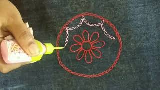 Jean Bag Decoration With Fevicryl Liquid Embroidery