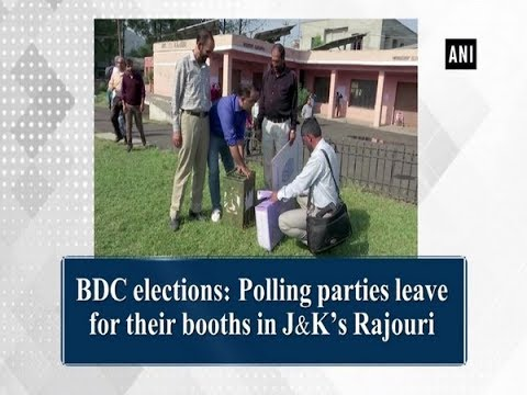 BDC elections: Polling parties leave for their booths in J&K's Rajouri