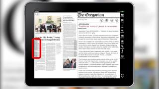 How to navigate sections and stories in The Oregonian's digital edition