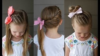 3 Five Minute Back To School Hairstyles | Qs Hairdos