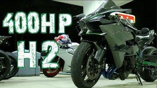 400HP Kawasaki H2 - 214mph STREET RACE! 1300HP GTR - Nitrous Hayabusa