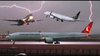 *Go Arounds, Aborted Takeoffs and Delays* Extreme Thunderstorm Hits Istanbul Ataturk! 16.6.18