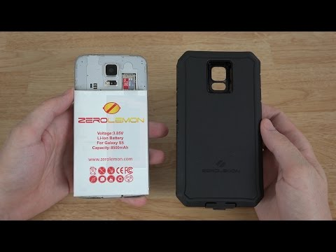 ZeroLemon Samsung Galaxy S5 8500mAh Extended Battery + Zeroshock Rugged Case + Screen Protector!