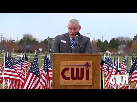 Dallas Hulsey speaks at CWI Veterans Day 11 10 2017