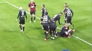 preview picture of video 'FC ViOn Zlaté Moravce - Spartak Trnava 1:1(1.12.2012) Prvý Gól'
