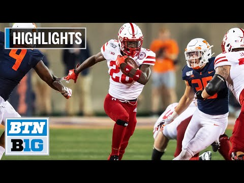 Highlights: Huskers Offense High-Powered in Win vs. Illini | Nebraska at Illinois | Sept. 21, 2019