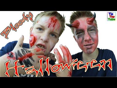 🎃 Halloween Horror-Zombie 😱 und Blutiger Dämon Schminkset DIY TipTapTube Vlog