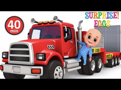 Car Loader Trucks For Kids - Cars Toys Videos, Police Chase, Fire Truck - Surprise Eggs  Jugnu Kids