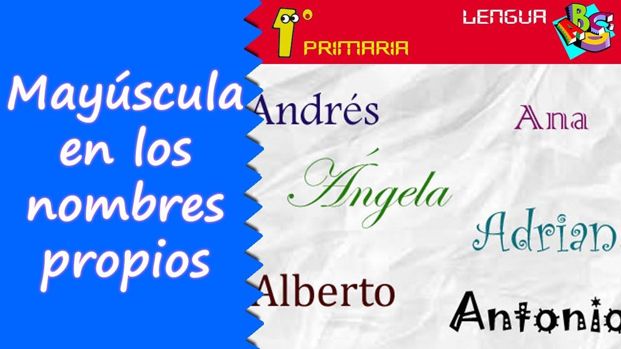 Lengua Castellana. 1º Primaria. Tema 1: Mayúscula en nombres propios