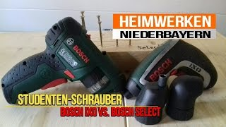 Bosch IXO VS.  Bosch Select (Studentenschrauber)