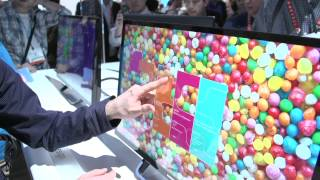 Samsung SC77 Touch 60 Degree Tilting Touchscreen LCD Monitor - Linus Tech Tips CES 2013