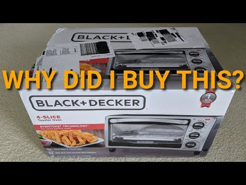 Black and Decker 4-Slice Toaster Oven Review (TO1313SBD) NEW ❤️
