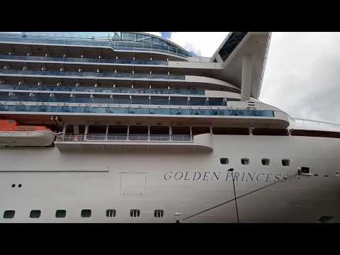 Sydney Harbour-closer to the huge cruise ship 'Golden Princess '.