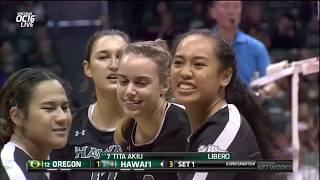 Rainbow Wahine Volleyball 2018 - Rematch: Hawaii Vs #12 Oregon