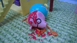 Bajka Świnka Peppa po polsku. Tata Świnka spadł z dachu!