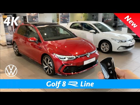 Volkswagen Golf 8 R Line 2021 - First FULL review in 4K | Exterior - Interior (King Red Metallic)