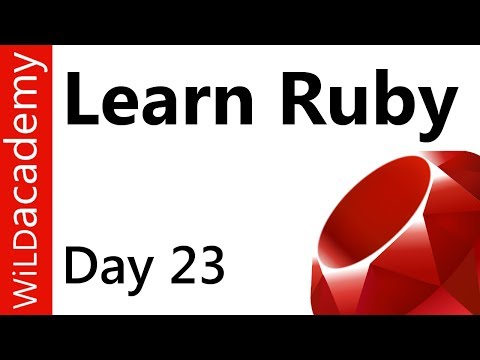 Ruby Programming – 23 – CRUD Create Read Update Delete