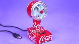 Faça um Incrível Mini Ventilador USB com Motor DC e latinhas de Alumínio
