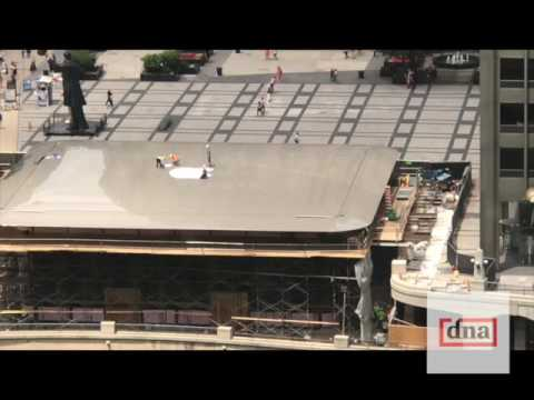 Il nuovo Apple Store di Chicago ha un tetto davvero particolare