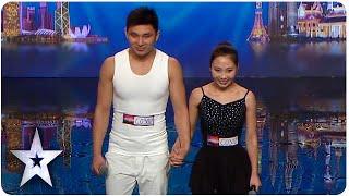 Gao and Liu's Golden Buzzer Acrobatic Ballet   Asia's Got Talent 2015 Ep 2