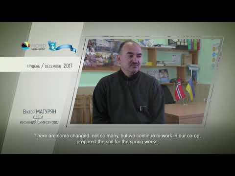 Video feedback of Viktor Maguryan, graduate of the Ukraine-Norway project