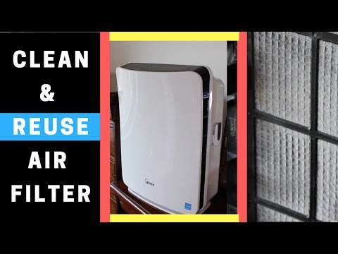 Video Air Purifier with Washable Filter | Tips on How to Clean Reusable Air Filter