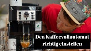 Kaffeevollautomaten Einstellen | Füllmenge, Mahlgrad und Kaffeebohnen Auswahl