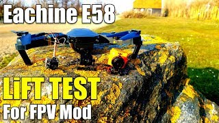 Eachine E58 How Much Weight Can a Drone Lift/Carry? Test Flight For FPV