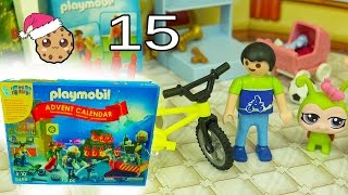 Bike Building  - Playmobil Holiday Christmas Advent Calendar - Toy Surprise Blind Bags  Day 15