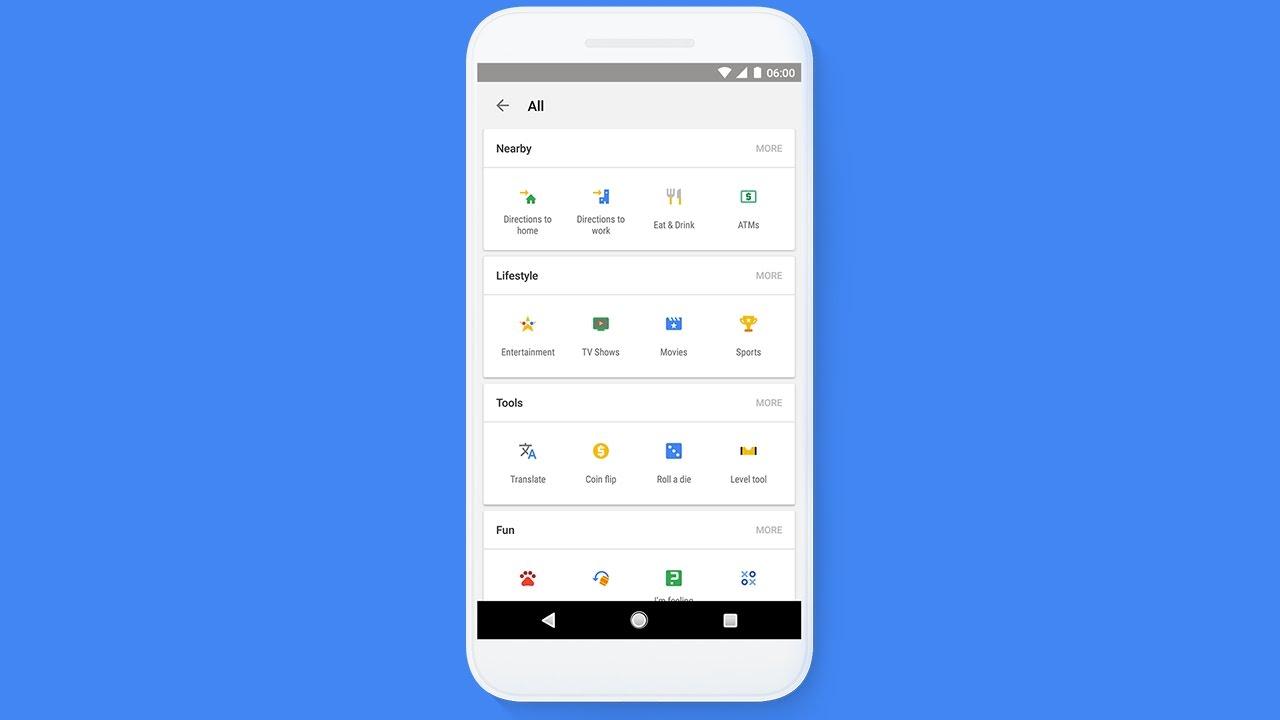 Shortcuts in Google Search