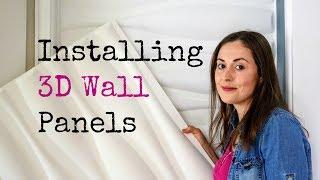 Installing 3D Wall Panels DIY | The Carpenter's Daughter