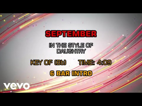 Daughtry - September (Karaoke)