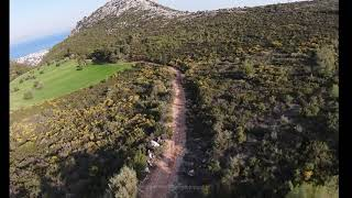 DJI FPV Drone mountain surfing - Mt Dionyssos