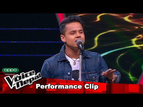 "Kiran Gajmer ""Teenpatey...""  Blind Audition Performance   The Voice of Nepal S3"