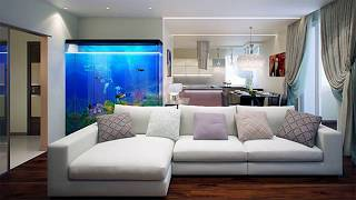 50+ Aquarium Interior Decoration Ideas | Inverted In Living Room Simple Setup Design Homemade 2018