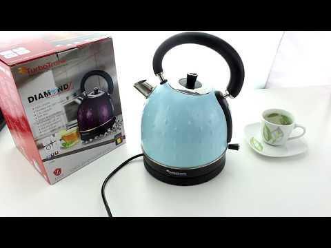 Unboxing 2200 Watt Edelstahl Wasserkocher im stylischen Retro Design 1,8 Liter