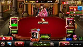Ultimate teen Patti 5cr boot. Deadly game