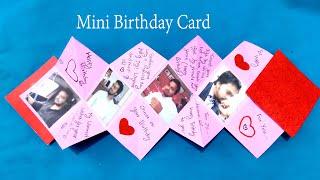 Happy birthday mini card | Multi fold Card for Boyfriend Birthday | Mini Love Birthday card