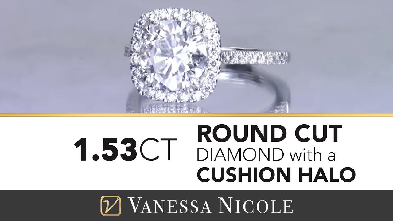 1.53ct Round Cut Diamond Ring