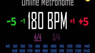 Metronomo Online   Online Metronome   180 BPM 44
