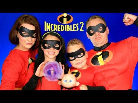 , title : 'Disney Pixar Incredibles 2 Mr. Incredible, Elastigirl, Violet, Dash, Jack Jack Makeup and Costumes!'