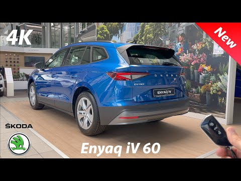 Škoda Enyaq iV 60 2021 - FULL REVIEW in 4K   Exterior - Interior